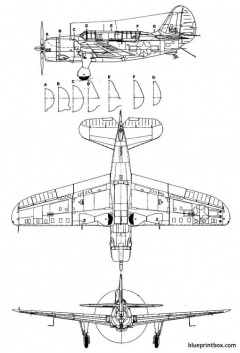 curtis sb 2c3 helldiver 2 model airplane plan