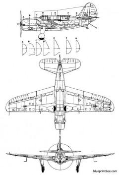 curtis sb 2c3 helldiver 2 model airplane plan