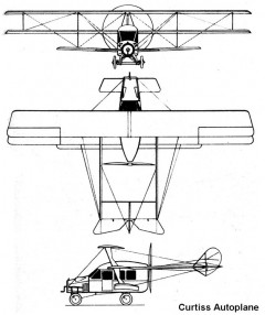 curtiss autoplane 3v model airplane plan