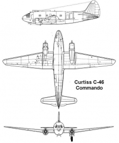 curtiss c46 3v model airplane plan