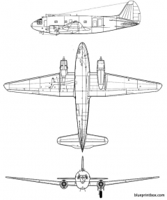 curtiss c 46 commando model airplane plan