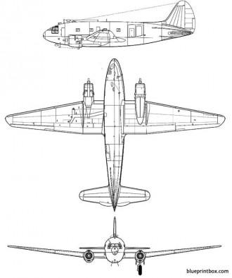 curtiss c 46 commando model airplane plan