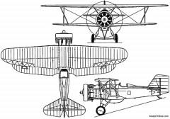 curtiss f6c hawk 1925 usa model airplane plan