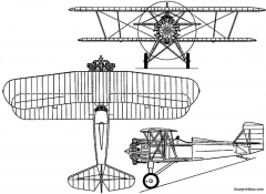 curtiss f7c 1 seahawk 1927 usa model airplane plan
