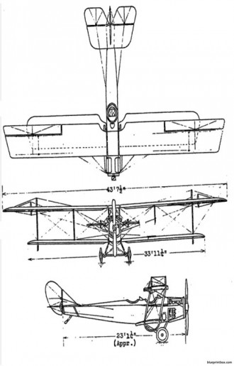 curtiss j4n jenny model airplane plan