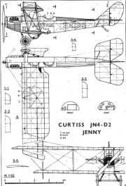 curtiss jenny 3v model airplane plan