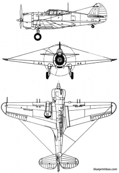 curtiss p 36 hawk 75 model airplane plan