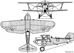 curtiss p 6 hawk 1927 usa model airplane plan