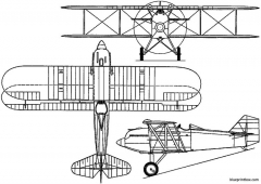 curtiss pw 8 1924 usa model airplane plan