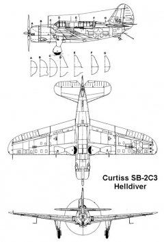curtiss sb2 2 3v model airplane plan