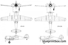 curtiss wright 21 2 model airplane plan