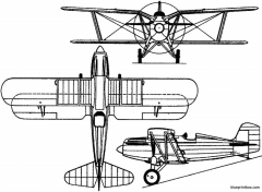 curtiss xp 10 1928 usa model airplane plan