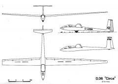 d36 3v model airplane plan