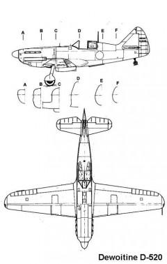 d520 2 3v model airplane plan