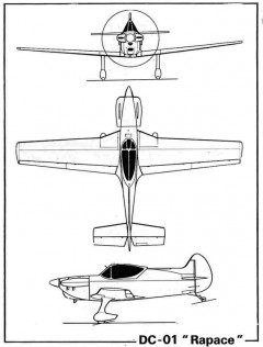 dabos rapace 3v model airplane plan