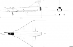 dassault 2000 model airplane plan