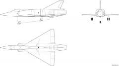 dassault balzac model airplane plan