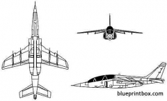 dassault breguet dornier alpha jet model airplane plan