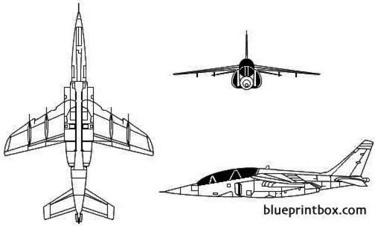 dassault breguet dornier alpha jet model airplane plan