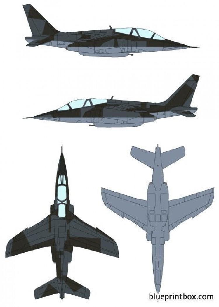 dassault dornier alpha jet model airplane plan