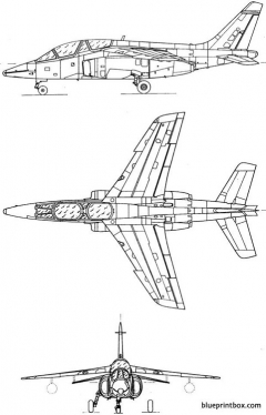 dassault dornier alpha jet e model airplane plan