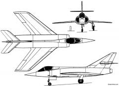 dassault etendard ii 1956 france model airplane plan