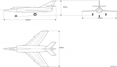 dassault etendard iv model airplane plan