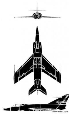 dassault etendard ivm model airplane plan