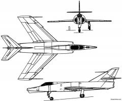 dassault etendard ivm 1958 france model airplane plan