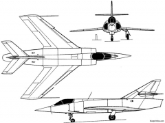 dassault etendard vi 1957 france model airplane plan