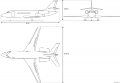 dassault f2000 ex model airplane plan