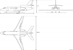 dassault f50 ex model airplane plan