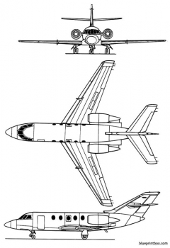 dassault falcon 20 model airplane plan