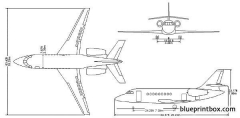 dassault falcon 2000dx model airplane plan
