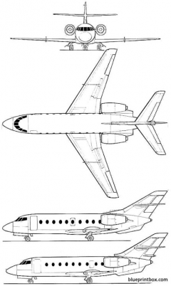 dassault falcon 30 model airplane plan