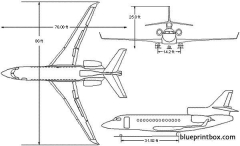 dassault falcon 7x model airplane plan