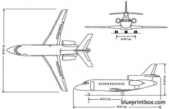 dassault falcon 900ex model airplane plan
