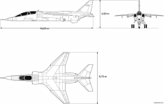 dassault jaguar model airplane plan