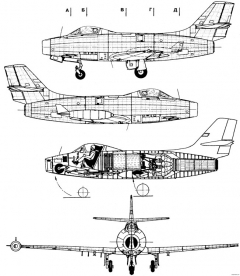 dassault md450 ouragan model airplane plan