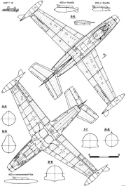dassault md450 ouragan 2 model airplane plan