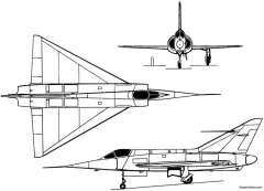 dassault md550 mirage i 1955 france model airplane plan