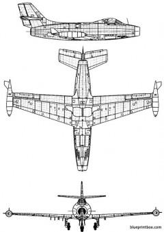 dassault md 450 ouragan model airplane plan