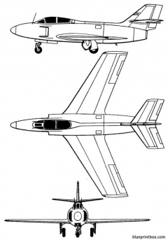 dassault md 453 mystere iii model airplane plan