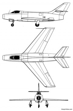 dassault md 454 mystere iva model airplane plan