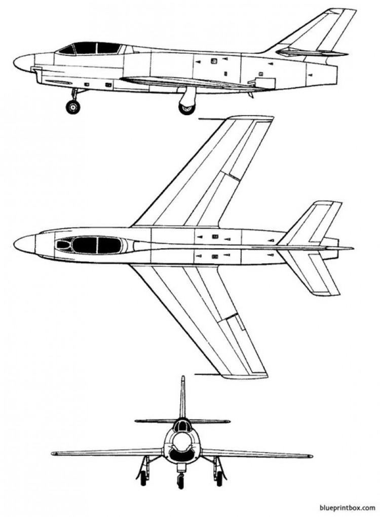 dassault md 454 mystere ivn model airplane plan