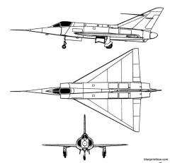 dassault md 550 mirage i model airplane plan