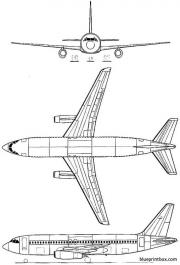 dassault mercure model airplane plan