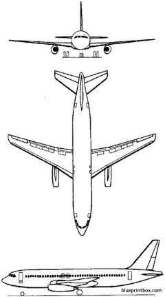 dassault mercure 1971 france model airplane plan