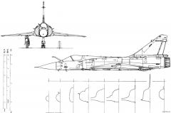 dassault mirage 2000 model airplane plan