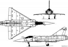 dassault mirage 2000 1978 france model airplane plan